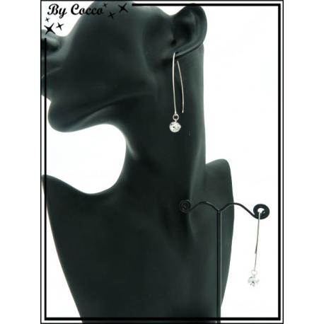 Boucles d'oreilles - Strass - Argent