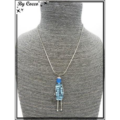 Collier - Poupée - Bleu clair