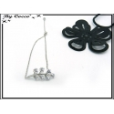 Bracelet Jonc - Petite branche - Strass - Argent