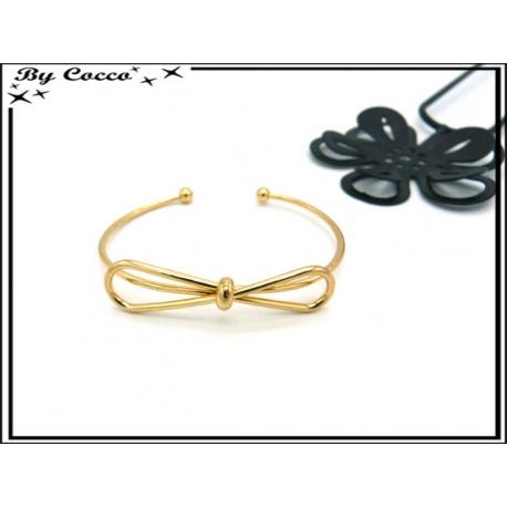Bracelet Jonc - Noeud - Doré
