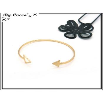 Bracelet Jonc - Flèche - Doré
