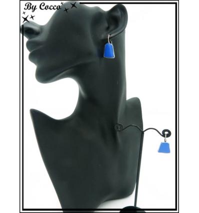 Boucles d'oreilles - Pierre bleue