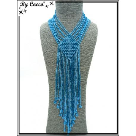 Sautoir - Multi-rangs - Perles - Bleu