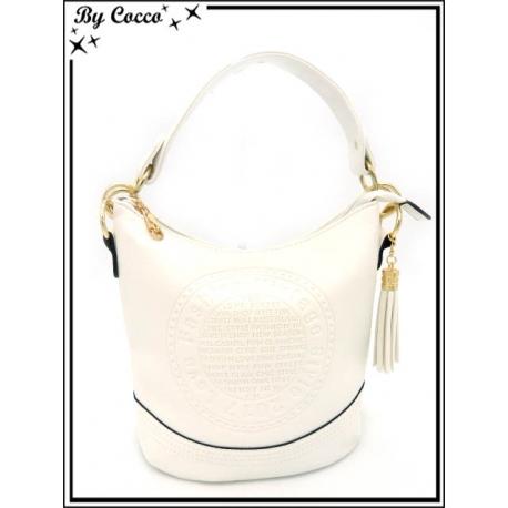 Sac à main - Seau - Vintage - Blanc