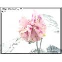 Bracelet rigide - Fleur - Rose