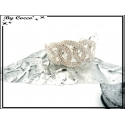 Bracelet rigide - Strass - Ronds entrelacés - Argent