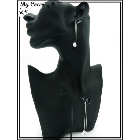 Boucles d'oreilles - Pendantes - Perle - Argent