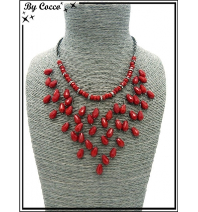 Collier - Branches - Rouge