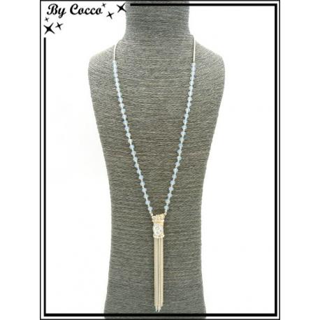 Sautoir - Chaînettes - Piece - Perles à facettes - Beige