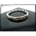 Bracelet - Elastique - Triangles - Couleurs métalisées