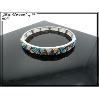 Bracelet - Elastique - Triangles - Multicolor