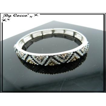 Bracelet - Elastique - Vagues - Couleurs métalisées
