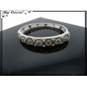Bracelet - Elastique - Ronds - Strass - 2