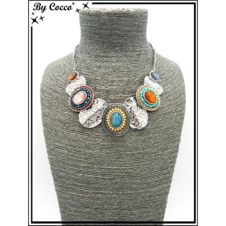 Collier - Piecettes - Perles - Multicolor