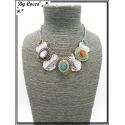 Collier - Piecettes - Perles - Multicolor