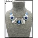 Collier - Piecettes - Perles - Bleu