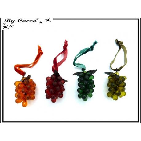 Décoration de bouteille - Grappe de raisin - Multicolor