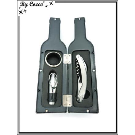 Coffret sommelier - 3 pièces - Forme bouteille