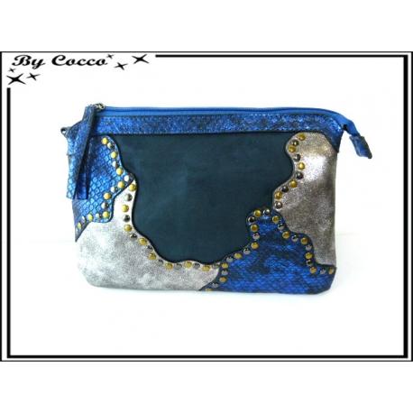 Pochette - Tri matière - Clous - Bleu marine