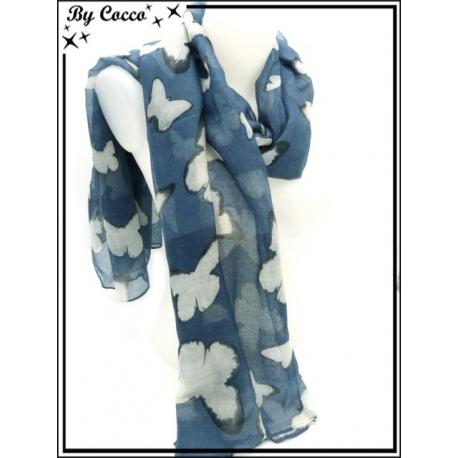 Foulard - Papillons - Bleu
