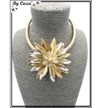 Collier - Fleur - Doré / Argent