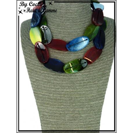 Collier - Ras de cou - Résine - Multicolor