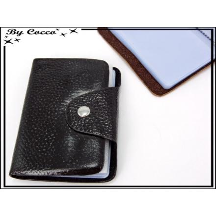 Porte cartes - Souple - 52 compartiments - Noir