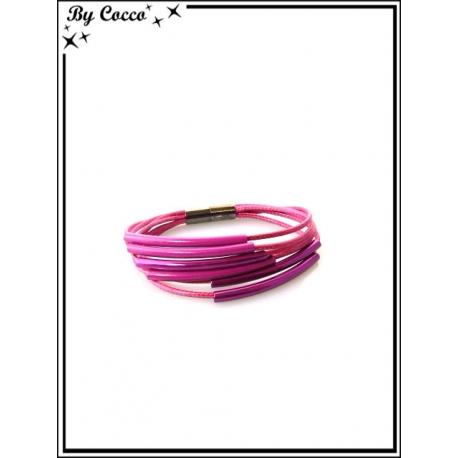 Bracelet - Multi-rangs - Rose