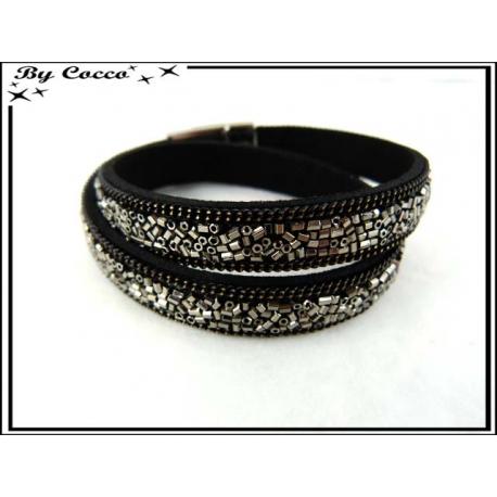 Bracelet - Double tour - Perles - Argent