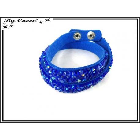 Bracelet - Double rangs - Bleu Roi