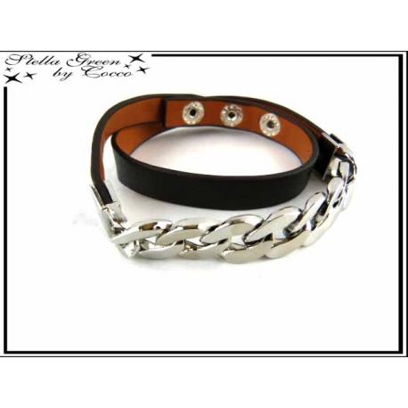 Bracelet Stella Green - Chaîne - Noir