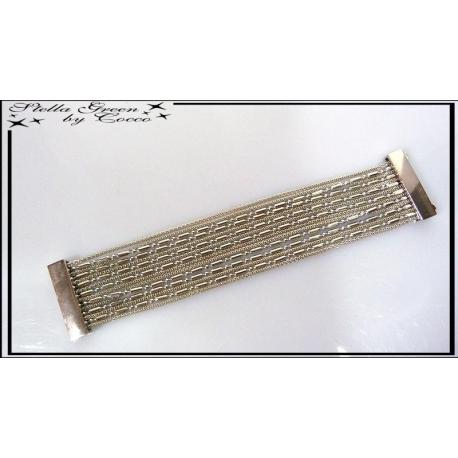 Bracelet Multirangs Chaînettes Stella Green Argent