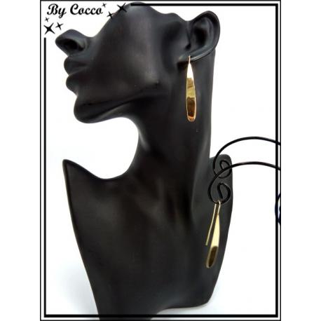 Boucles d'oreilles - Gouttes - Doré