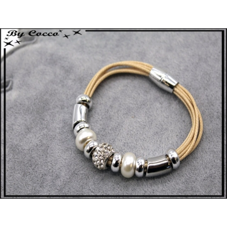 Bracelet - Stella Green - Modèle 1 - Beige / Argent