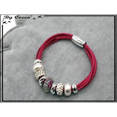 Bracelet - Stella Green - Modèle 3 - Fushia / Argent