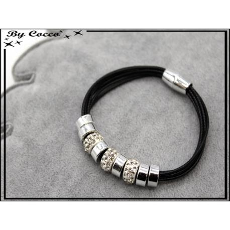 Bracelet - Stella Green - Modèle 4 - Noir / Argent