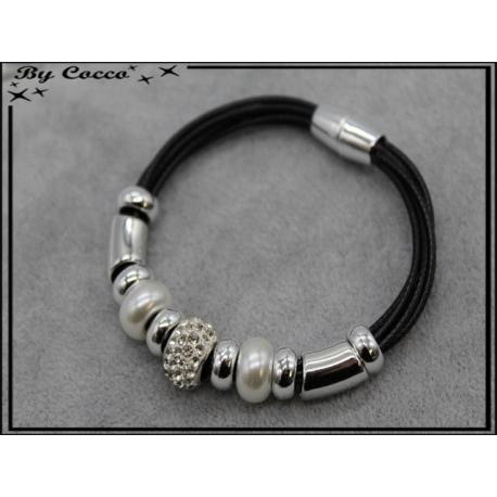 Bracelet - Stella Green - Modèle 1 - Noir / Argent