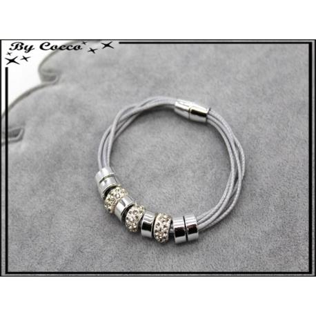 Bracelet - Stella Green - Modèle 4 - Gris / Argent