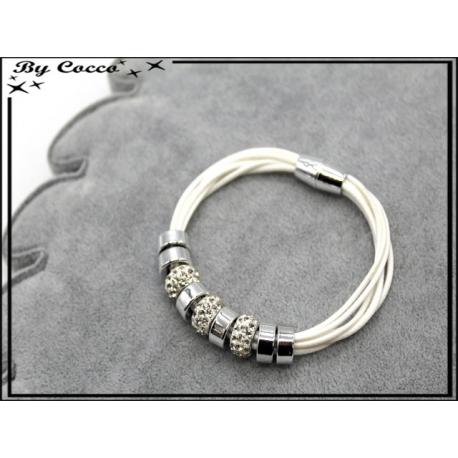 Bracelet - Stella Green - Modèle 4 - Blanc / Argent