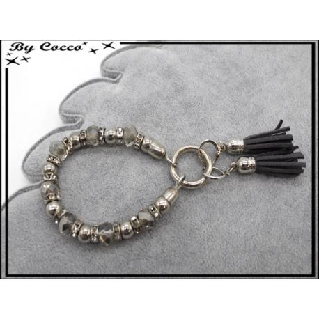 Bracelet - Stella Green - Perles / Pompons - Gris foncé