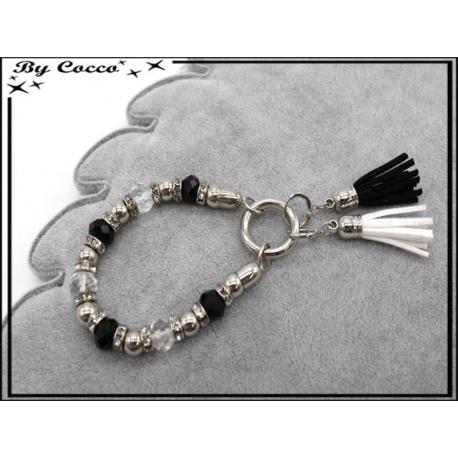 Bracelet - Stella Green - Perles / Pompons - Noir / Blanc