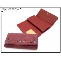 Porte-monnaie - Clous de couleurs - Rouge bordeaux