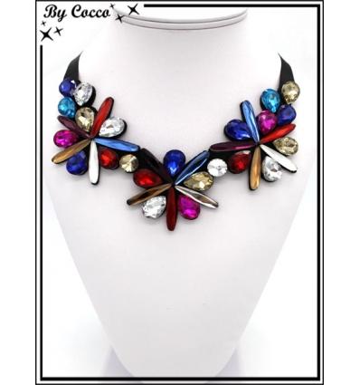Collier col - Fleurs - Multicolor