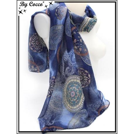 Foulard - Rosaces / Cercles - Bleu marine