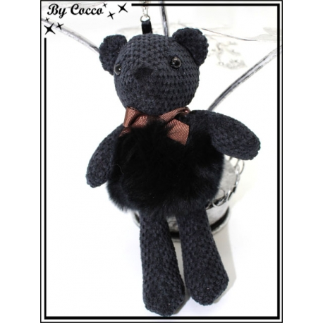 Bijoux de sacs - Ours - Noir