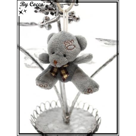 Bijoux de sacs - Petit ours - Gris