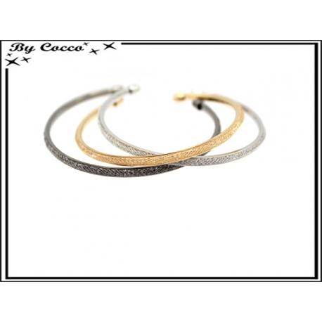 Bracelets - Strass - Fin - Argent foncé / Argent / Doré