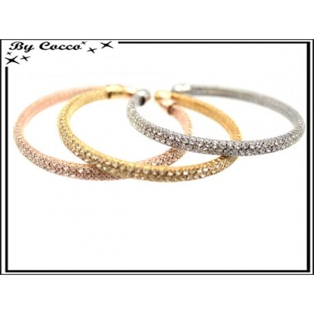 Bracelets - Strass - Moyen - Rose cuivré / Argent / Doré
