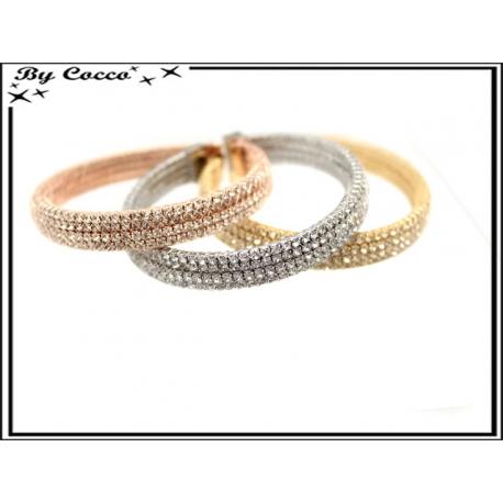 Bracelets - Strass - Large - Rose cuivré / Argent / Doré