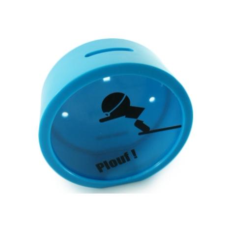 Tirelire Circulaire Bleu